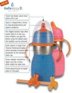 Kid Basix Safe Sippy 2 - a 2 in 1 sippy cup