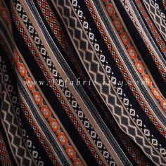 Tribal Fabric Brown Rayon