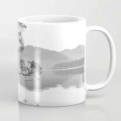 Wanaka Tree New Zealand Nature Photograph Black And White Coffee Mug
