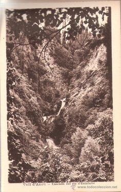 Escalarre.  Vall d'Àneu. Cascada del riu d'Escalarre.  Recuerdo de Esterri d'Àneu. 14 vistas.  M. Solé, fotògraf