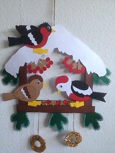 ❄️Fensterbild/Tonkarton-Vogelhäuschen/Winter/ Weihnachten❄️ Bird Template, Diy And Crafts, Paper Crafts, Scrapbook Borders, Christmas Crafts, Christmas Ornaments, Craft Club, Winter Art, Art For Kids