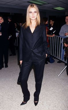 The Kate Moss Guide to Wearing Head-to-Toe Black via @WhoWhatWear