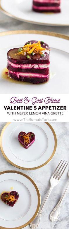 Gluten Free Beet and Goat Cheese Appetizer with Meyer Lemon Vinaigrette