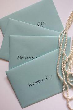 Breakfast at Tiffany's Themed Party- Invitations by Erika Keuter Designs