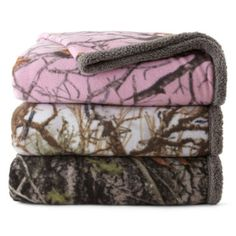 Scene Weaver™ True Timber Camo Sherpa Fleece Throw  found at @JCPenney