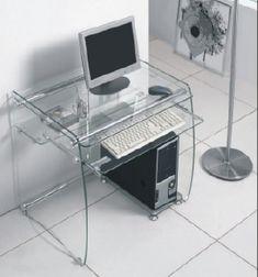 Boxey Clear Gl Computer Desk