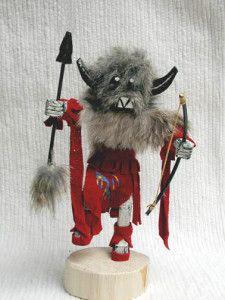 Navajo Made Great Spirit Buffalo Kachina Doll