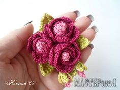 ergahandmade: Crochet flowers + Diagram + Free Pattern Step By Step