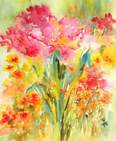 Garden View watercolor by Susan Magdangal