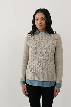 c95dd617ebfc8 Ravelry  Hawley Pullover pattern by Julie Hoover Vogue Knitting