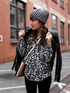 Leopard Blouse | Statement Earrings | Pieces of Mariposa