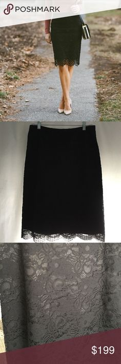 Banana Republic black lace pencil skirt Cover pic for styling purposes not exactly the same skirt. Very good used condition. 🚫 No trades. All sales final. Banana Republic Skirts Pencil