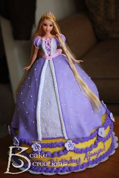 Rapunzel cake-  Instead I did Merida and used buttercream, not fondant.  It was a great cake and Amanda  loved it.