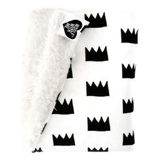 Organic Faux Fur Baby Blanket Crowns