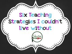Education to the Core: Six Teaching Strategies I Couldn't Live Without- could be adapted for math workshop