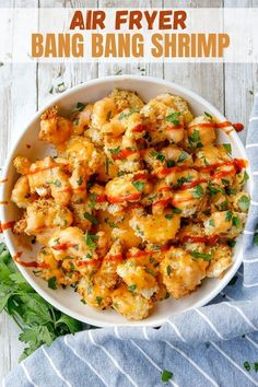 Air-fryer Bang Bang Shrimp is a super easy copycat of an iconic appetizer at Bonefish Grill. The shrimp are first coated in buttermilk and a layer of breadcrumbs, then fried until they're perfectly crisp and ready for sauce. They're seriously addictive! #appetizer #seafood #copycatrecipe #airfryer Shrimp Recipes, Copycat Recipes, Bonefish Grill, Bang Bang Shrimp, Breaded Shrimp, Sweet And Spicy Sauce, Sweet Chili, How To Cook Shrimp, Serving Dishes