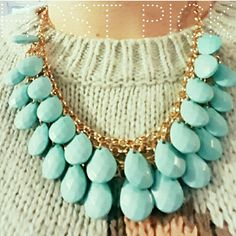 Host Pick! Turquoise Teardrop Necklace Host Pick for Winter Essentials Party 12/25   Turquoise metal and resin Teardrop Necklace by T+J Designs!   **Please do not purchase this listing. Tag me and I will create a listing for you. T&J Designs Jewelry Necklaces