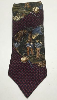 Mens Golf Tie Golf Digest 200 Silk | eBay
