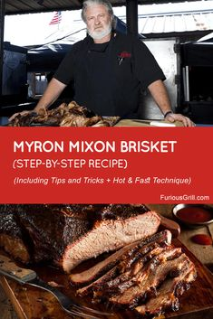Myron Mixon brisket recipe has quickly gained popularity due to his unique hot & fast technique. Here's a full guide explaining everything you need to know about his amazing recipe: Best Smoked Brisket Recipe, Beef Brisket Recipes, Bbq Brisket, Smoked Beef Brisket, Smoked Meat Recipes, Beef Brisket Injection Recipe, Pork Recipes, Grilled Brisket, Spinach Recipes