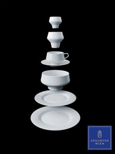 "Tableware ""SHORTCUT"" by Thomas Feichtner #Augarten #ViennaPorcelain #Feichtner Vienna, Clarity, Porcelain, Tableware, Modern, Design, Bon Appetit, Speakers, Porcelain Ceramics"