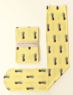 Strathcona Stockings Pineapple Printed Sock by StrathconaStockings