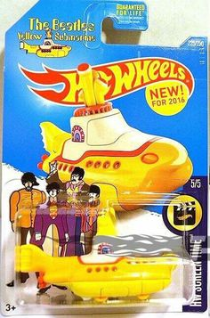 Beatles News Insider: Update on the Beatles Yellow Submarine Hot Wheels Disney 2000, Carros Hot Wheels, Vintage Hot Wheels, Automobile, Matchbox Cars, Yellow Submarine, Hot Wheels Cars, Us Cars, Classic Toys
