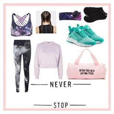 """~Work Hard_Play Hard~"" by sritter870 ❤ liked on Polyvore featuring ban.do, Onzie, NIKE, Puma and Topshop"