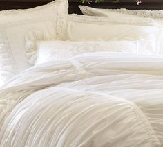 Hadley Ruched Duvet Cover - Pottery Barn
