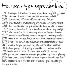 This is how I know my INTJ best-guy-friend loves me (that and he said it - he wouldn't say it if he didn't mean it).... if only I could clone him.