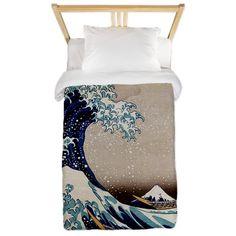 The Great Wave off Kanagawa Twin Duvet on CafePress.com