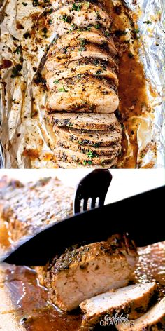This Baked Pork Tenderloin is the BEST I've ever had! It's outrageously juicy, bursting with herb, garlic butter flavor and SO easy! Step by step photos, tips and tricks included! recipes videos for dinner GARLIC BUTTER HERB PORK TENDERLOIN Crockpot Recipes, Cooking Recipes, Healthy Recipes, Vitamix Recipes, Easy Baking Recipes, Ketogenic Recipes, Vegetarian Recipes, Comida Diy, Le Diner