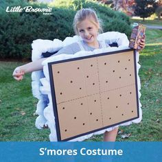 Strut your Fluff with S'mores costumes Have you ever loved cookies so much that you wanted to become one? Now's your chance! By making this super sweet S'mores costume, you'll gain S'mores cookie knowledge and have a creative costume once booth sales...