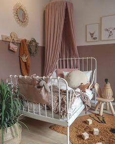 Baby Bedroom, Girls Bedroom, Dusty Pink Bedroom, Kids Interior, Ikea Kids Room, Toddler Rooms, Ikea Toddler Bed, Kids Room Design, Little Girl Rooms