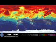 This terrifying NASA video shows how carbon emissions are engulfing the world. Horrifying much? You betcha.
