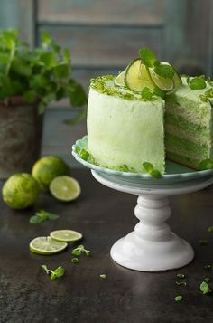 A very refreshing and spring Mojito cake. Prepared on a green sponge cake .- Bardzo orzeźwiający i wiosenny tort Mojito. Przygotowany na zielonym biszkopci… Very refreshing and spring Mojito cake …. Food Cakes, Cupcake Cakes, Cupcakes, Cookie Desserts, Dessert Recipes, Cake Recept, Delicious Desserts, Yummy Food, Mojito Recipe