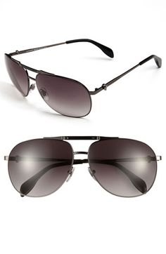 Alexander McQueen Metal Aviator Sunglasses available at #Nordstrom