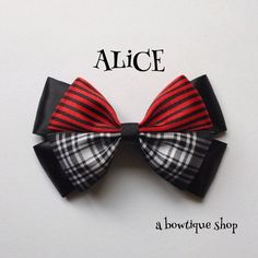 alice through the looking glass hair bow
