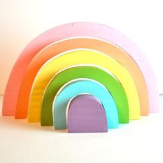 Rainbow Stack Puzzle