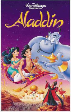 Aladdin, another favorite. When  I, and many kids my age, 'met' our Genie - Robin Williams.