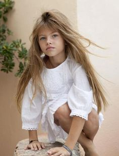 """In Thylane Blondeau was named """"the most beautiful girl in the world,"""" a title which carries a lot of pressure. Little Girl Models, Baby Models, Child Models, Beautiful Little Girls, Beautiful Children, Cute Girls, Look Fashion, Kids Fashion, Thylane Blondeau"""