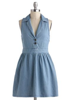 Lena Denim Dress at Modcloth. Love the name!