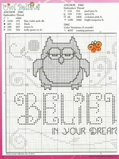 Owl Believe Wall Hanging2