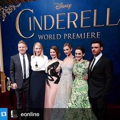 Lily James and Richard Madden with the rest of the Cinderella Crew at the World Premiere of Cinderella Yumeiro Patissiere, Cinderella 2015, Dilly Dilly, Have Courage And Be Kind, Richard Madden, Lily James, Sailor Moon Crystal, Lavender Blue, Prom Dresses