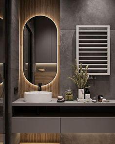 Interior Design Toilet, Industrial Bathroom Design, Toilet Design, Interior Design Living Room, Beige Tile Bathroom, Bathroom Dimensions, Restroom Design, Contemporary Bathroom Designs, Loft