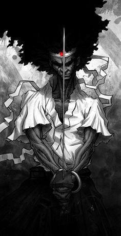 Afro Samurai Afro Samurai, Samurai Anime, Illustrations, Illustration Art, Manga Anime, Anime Art, Samurai Wallpaper, Character Art, Character Design