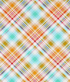 Joel Dewberry Tartan Poppy Fabric - $8.9 | onlinefabricstore.net   dining chair seats