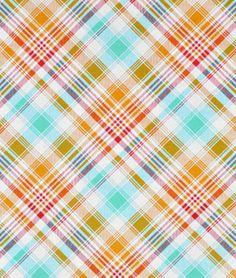 Joel Dewberry Tartan Poppy Fabric: little girl room?