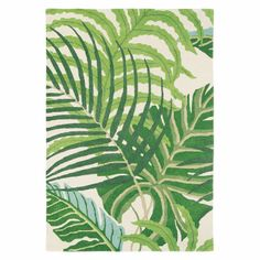 Sanderson Leaf Manila Modern Rug 140 x 200 cm: Combining different shades of green with a botanical design this rug has been created using only the finest grade new wool. A true inspiration that will bring the outside inside warming any room.