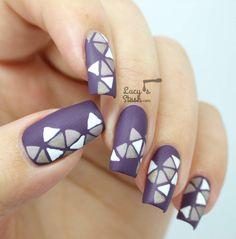 Triangle Mosaic Nail Art Design with SpaRitual