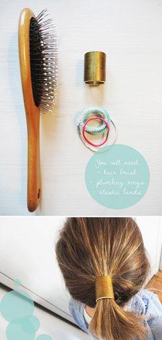 El brazalete para cola de caballo | 46 Ideas para joyería hazlo tú mismo que realmente quieres usar